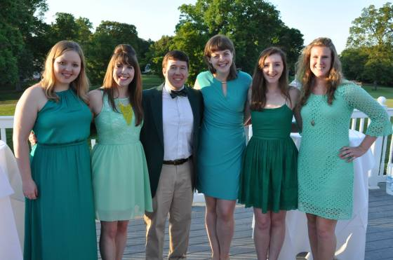 Somehow we all accidentally coordinated. I suppose green is a school color...