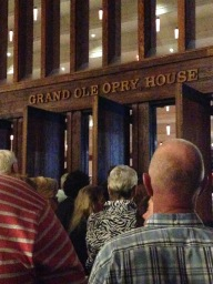Going into the Grand Ole Opry!