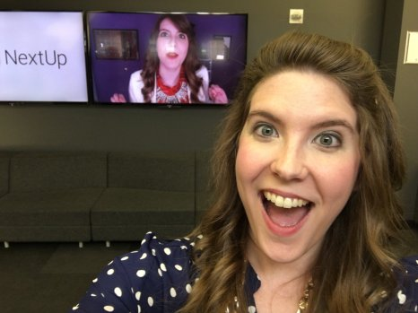 Being super excited about my face/video rolling in the Space!