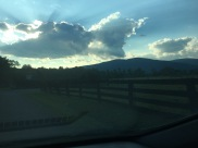 The view driving in to the mountain our cabin was located on.