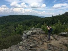 Parker getting that shot (@ Loft Mountain)