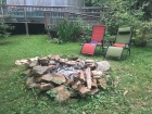 Fire pit and chairs.