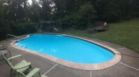 The really nice salt system pool on the property.